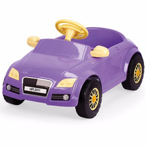 Carrinho Infantil De Pedalar Menina Com Buzina Audi Lilas