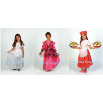 Disfraz Vendedora Ambulante Empanadas Dama Antigua Paisana