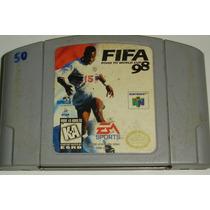 Fita Nintendo 64 Fifa 98 Road To World Cup Futebol Ea Sports