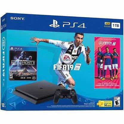 Playstation 4 Slim Fifa 2019 Con Juego Star Wars De Regalo