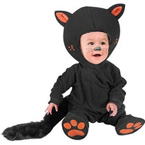 Niño Niños Disfraz Gato Negro Bebé (tamaño: 12m)