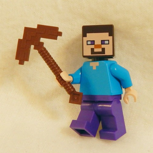 boneco lego steve minecraft original picareta set 21113 r 38 99