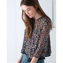 Blusa Bershka Flower Print Zara Pull And Bear Sfera Oysho