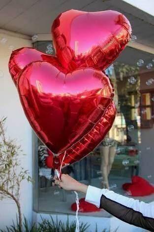 ddb95a30a Balão Metalizado Coração 45cm 20 Unidades Festa Casamento - R  29