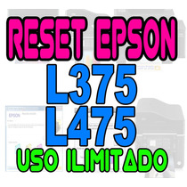 + Reset Oficial Epson L375 L475 L455 Ilimitado Gratis Envio