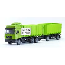Miniatura Caminhão Bitrem Man 464 F2000 New Ray Escala 1/43