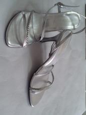 Fiesta Zapatos De Sandalias En Pedreria Mujer Tacones Plateados cl3K1JTFu