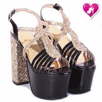 Sandalia De Fiesta Glitter Charol Mod Sharan De Shoes Bayres