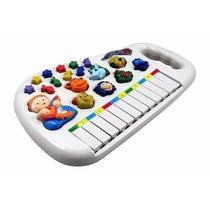 Piano Teclado Animal Infantil Eletrônico Sons Fazenda Sítio