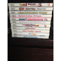Remató Juegos De Wii Originales Individual O Juntos!!!