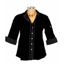 Camisa Social Feminina Plus Size Dudalinda Flor Primavera