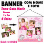 Banner Painel Digital 1mx1m 4 Fotos Gata Marie Will592