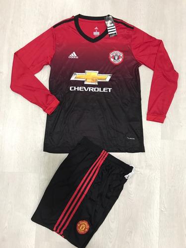 Uniforme De Fútbol Manchester United Manga Larga -   39.900 en Mercado Libre 982bcb707ccb7