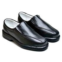 Sapato Social Masculino Antistres Ortopedico Couro Diabetico
