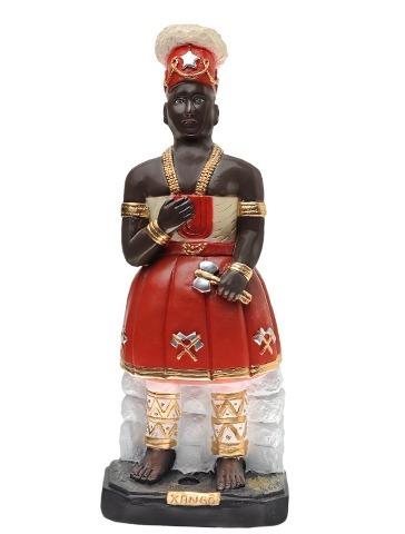Imagem Xango Do Candomble 25cm Gesso Estatua Sango Oba R 66
