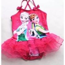 Traje De Baño Frozen Fever Para Niñas Elsa Y Anna