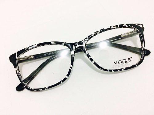 250a5307f2e46 Armação Estilizado Vogue Para Grau Óculos Em Acetato Glamour - R  130