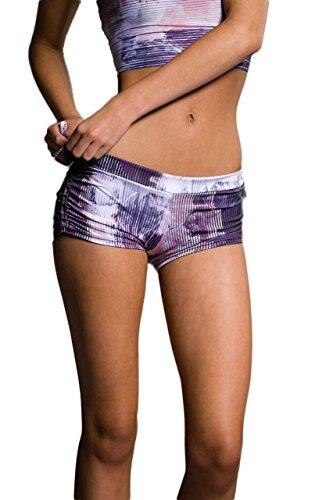Mujer Cortos Lazo Pantalones De Lateral Onzieresumen YgIf6byvm7