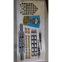 Adesivo Bicicleta Antiga Monark Brasiliana 64 - Frete Grátis
