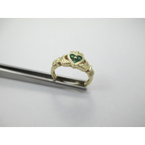 Anel De Compromisso - Claddagh - Aro 13 - Ouro 14k