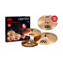 Kit De Pratos Set Meinl Mcs Liga B8 14/16/20 E Medium 18