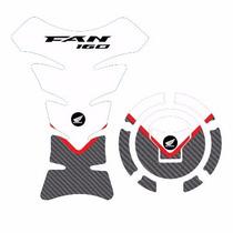 Protetor Tank Pad Top Tanque Bocal Moto Honda Cg Fan 160 M01