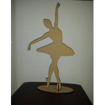 Bailarina Mdf 50cm Decoração Mesa Festa 15 Anos Debutante