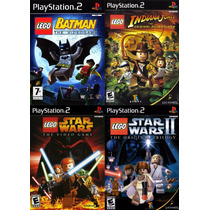 Lego Star Wars The Videogame Play 2 (kit 4 Jogos Ps2 Criança