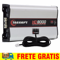 Modulo Taramps Hd8000 8000 W Rms Amplificador + Monitor Led