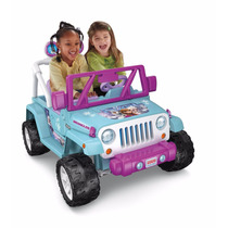Coche Electrico Fisher Price Power Wheels Frozen Jeep Auto