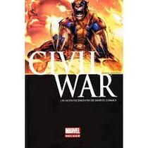 Civil War De Luxe Empastado Portada Wolverine Español