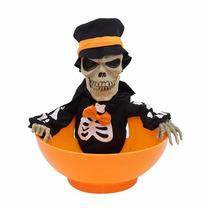Bowl Animado Para Repartir Dulces Halloween Brinca Y Grita