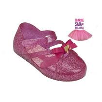 Promoção Sapatilha Barbie Ballet Bebê Brinde Saia Bailarina