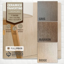 Ceramica Lourdes Travertino Gris/beige/marron 35x35 La Plata