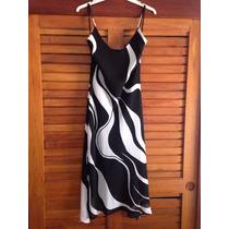 Vestido De Chiffon Largo (3/4) Talla M Nuevo De Fiesta