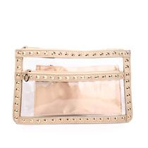 Clutch Bolsa Carteira Transparente Com Tachas - Lindas