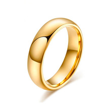 Aliança Tungstênio Banhada Folheada A Ouro Fina Casamento