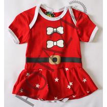 Body Saia Fantasia Natal Para Bebês
