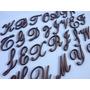 4 Letras Em Mdf Fonte Cursiva Manuscrita 3cm D Altura -nomes