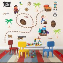 Adesivo De Parede - Piratas - Decoração Infantil - Menino