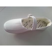 Sapatilha Em Tecido Brim Branca Tipo Moleca Promoção /182