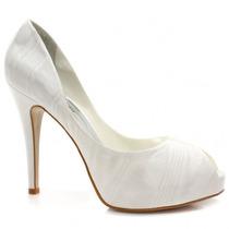Sapato Laura Porto Peep Toe Cetim   Zariff