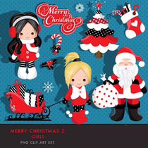 Kit Imprimible Navidad Santa Nena 1 Imagenes Clipart
