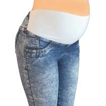 Pantalon Materno Jean Diseños Originales A La Moda Ref: 2606