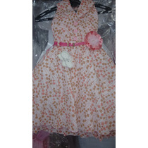 Rosalinda Vestido De Festa Casual Infantil Tecido Algodão.