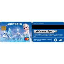 Iptc-001 Frozen Invitación Tarjeta De Crédito Personalizada