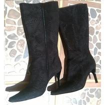 Botas Negras De Gamuza Y Zapatos Rojos, Lote C/envío.