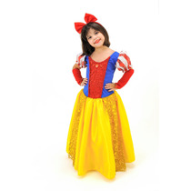 Fantasia Infantil Princesa Branca De Neve Top Frete Grátis