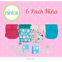 6 Pack De Pañales Ecológicos - Niña