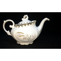 Antigo Bule De Chá Desenho Trigo Em Porcelana Schmidt